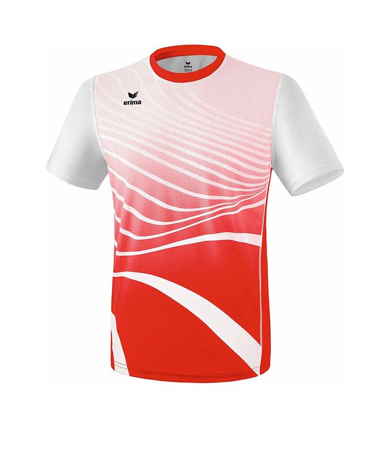 Erima T-Shirt Running Rot Weiss - rot