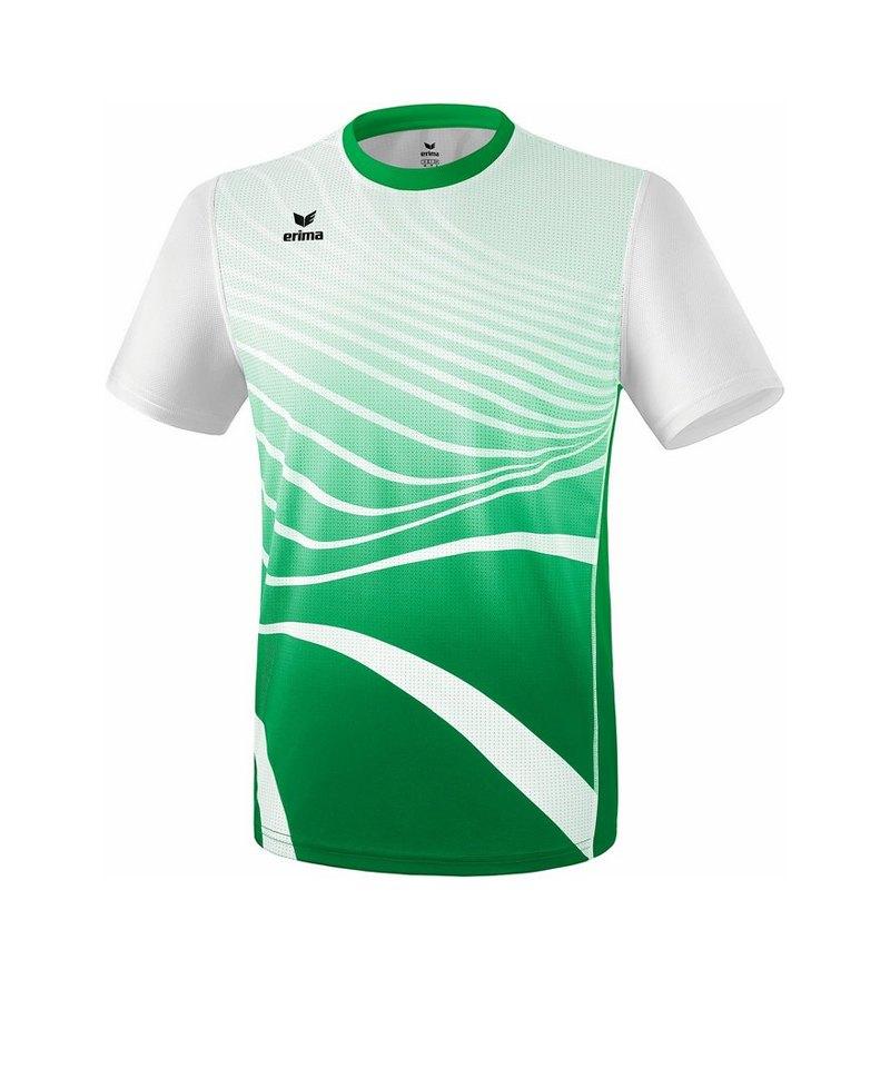 Erima T-Shirt Running Grün Weiss - gruen
