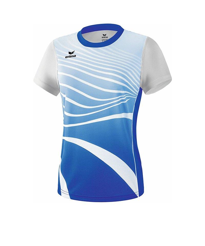 Erima T-Shirt Running Damen Blau Weiss - blau