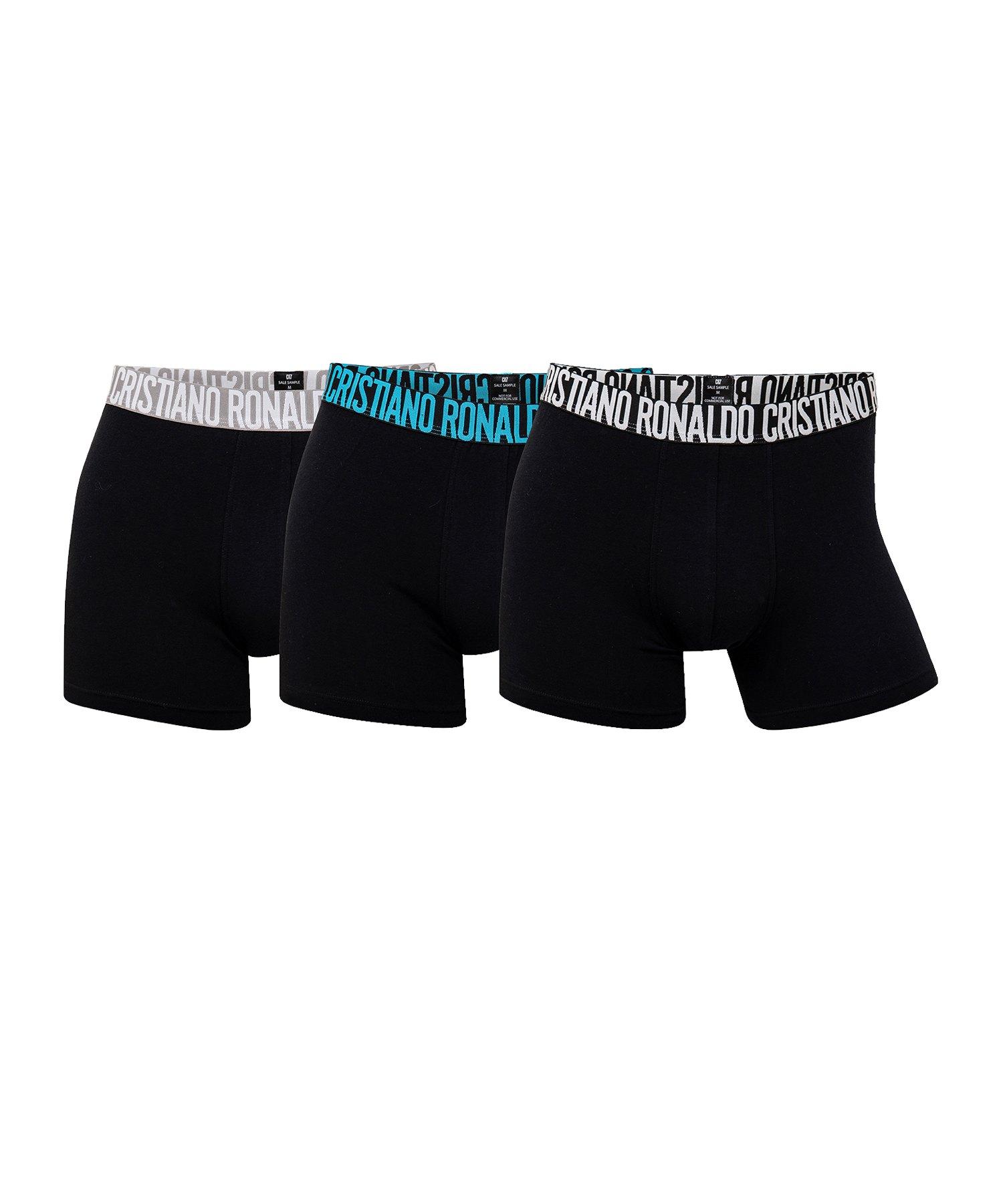 CR7 Basic Boxershort 3er Pack Schwarz - schwarz