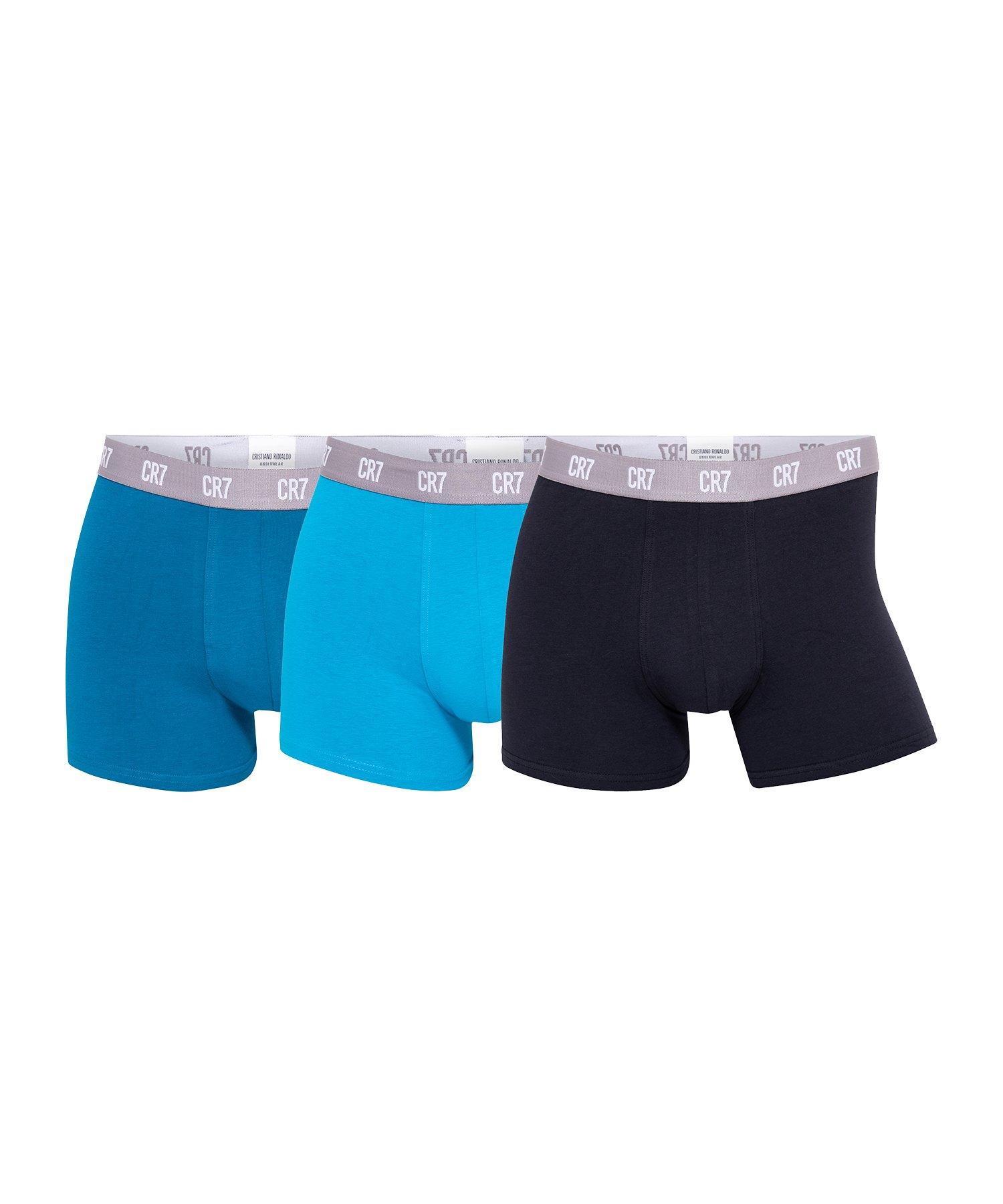 CR7 Basic Boxershort 3er Pack Schwarz Blau - schwarz