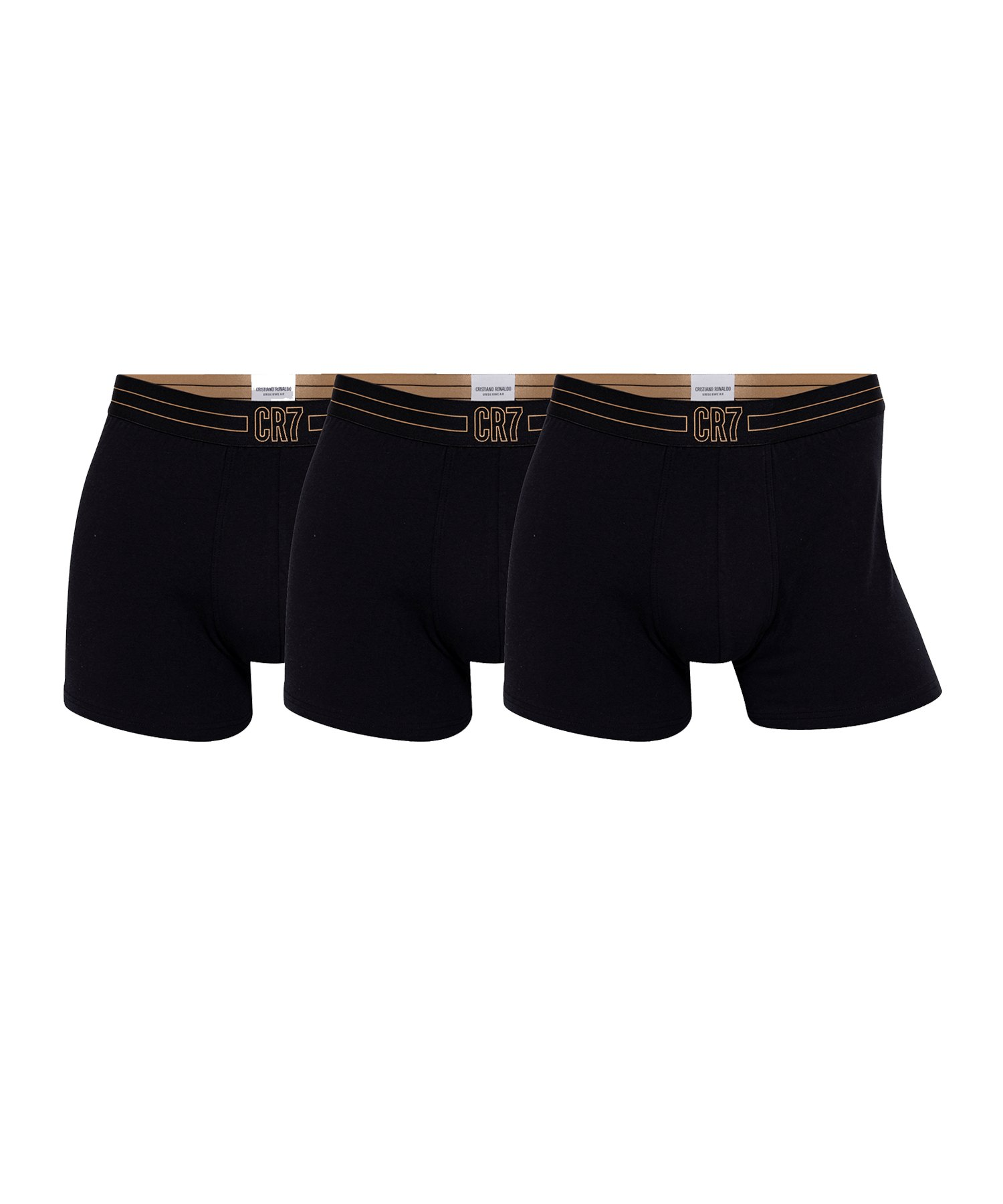 CR7 Basic Underwear Brief 3er Pack Schwarz - schwarz