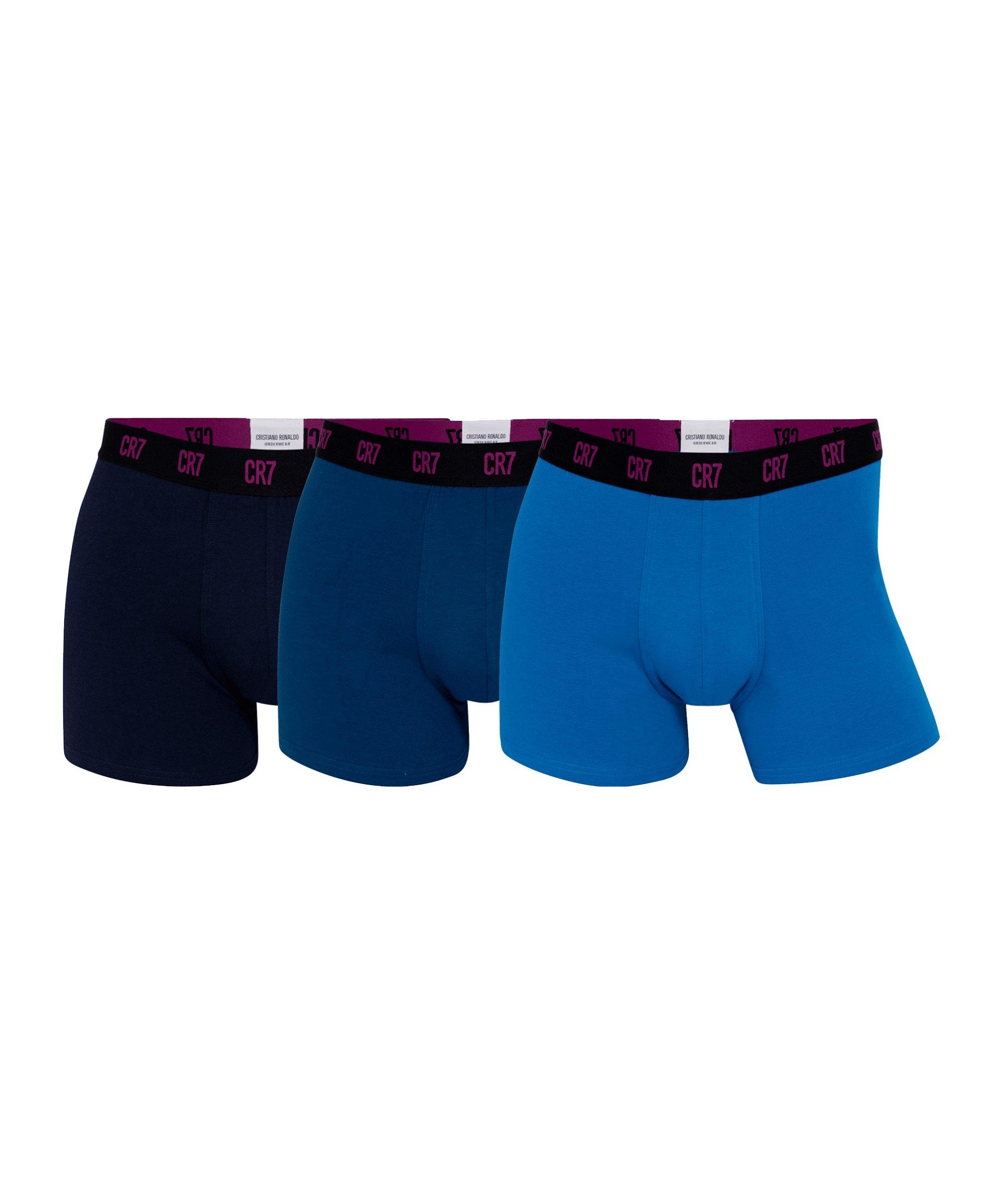 CR7 Basic Trunk Boxershort 3er Pack Blau Schwarz - blau