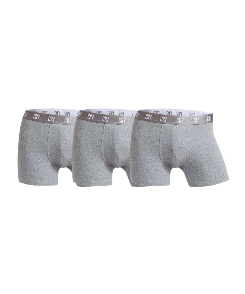 CR7 Basic Trunk Boxershort 3er Pack Grau - grau