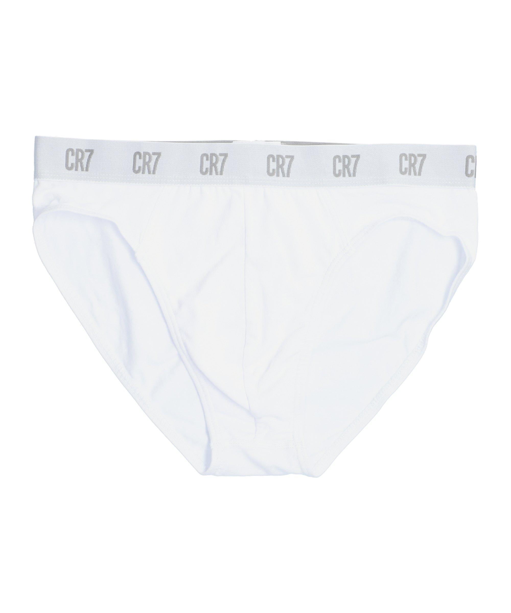 CR7 Basic Underwear Brief 3er Pack Weiss F100 - weiss