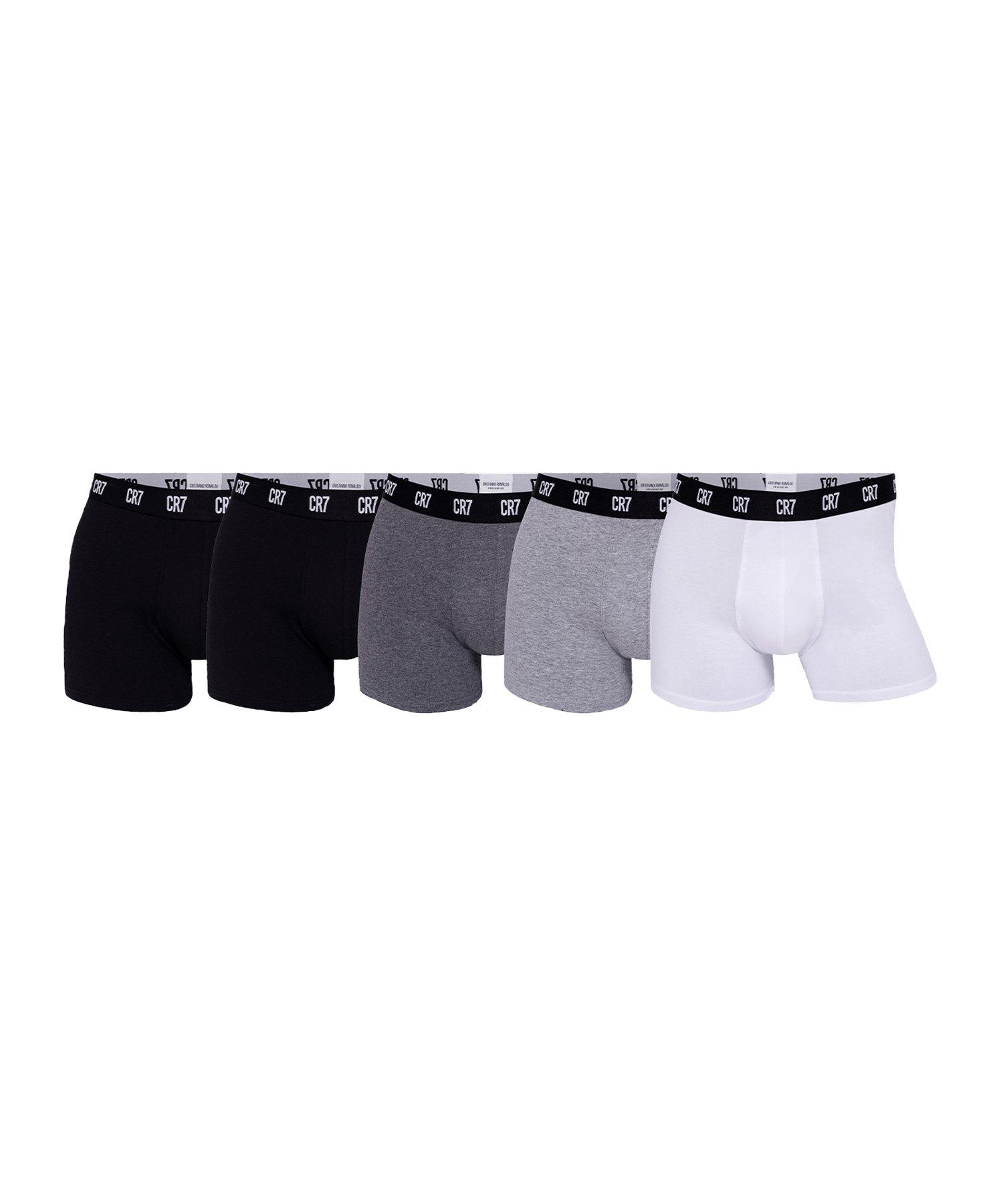 CR7 Basic Underwear Brief 5er Pack Schwarz - schwarz
