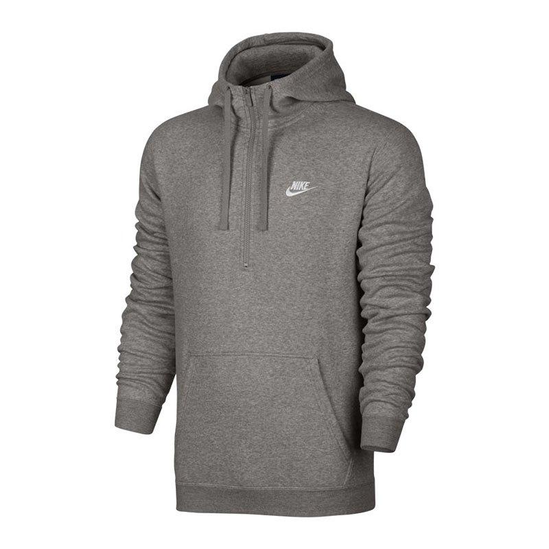 Nike Hoody Halfzip Kapuzensweatshirt Grau F063 - grau