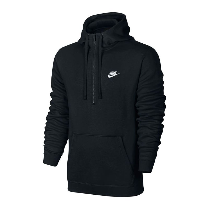 Nike Hoody Halfzip Kapuzensweatshirt Schwarz F010 - schwarz