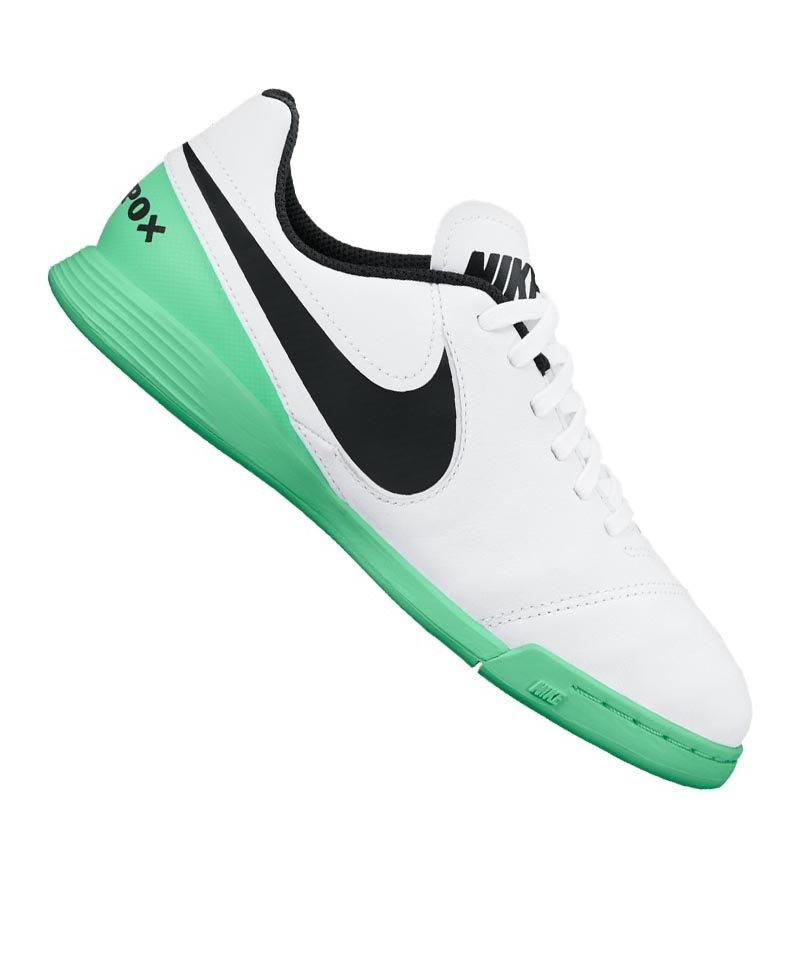 Nike IC Jr Tiempo Legend VI Kinder Weiss Grün F103 - weiss