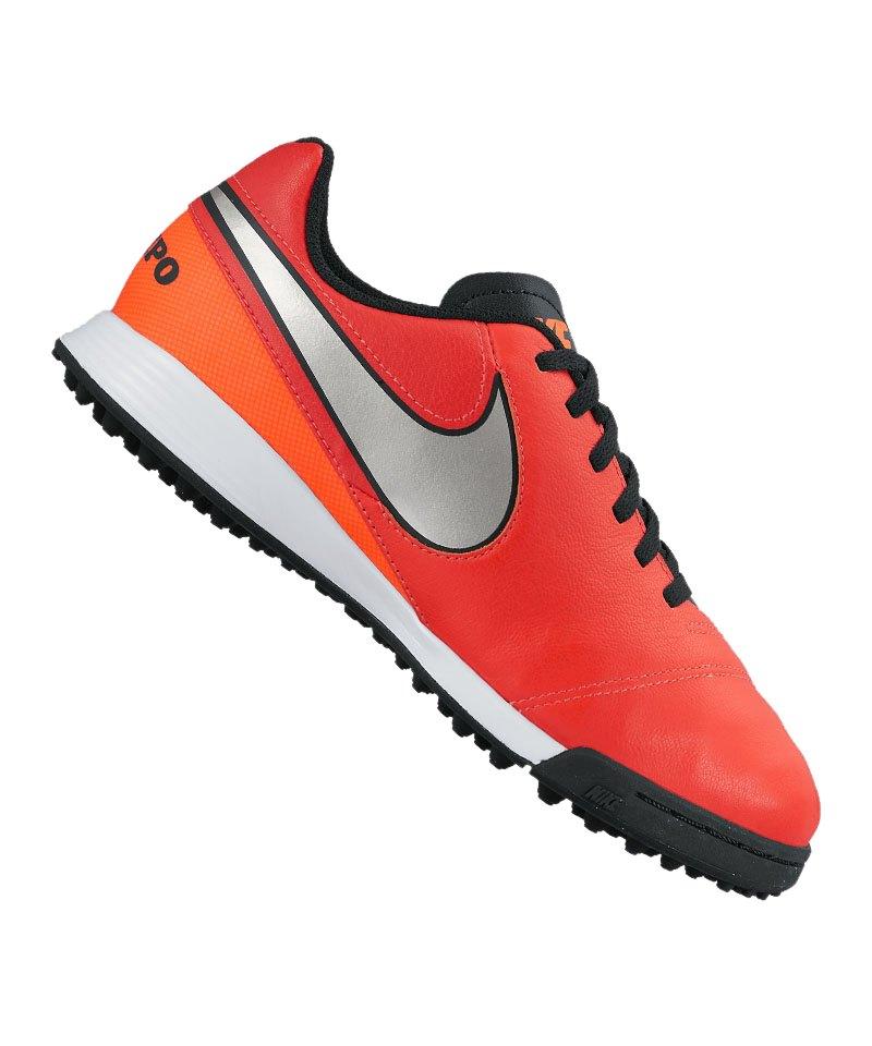 Nike TF Jr Tiempo Legend VI Kinder Rot Silber F608 - rot