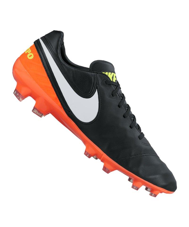 Nike FG Tiempo Legacy II Schwarz Orange F018 - schwarz
