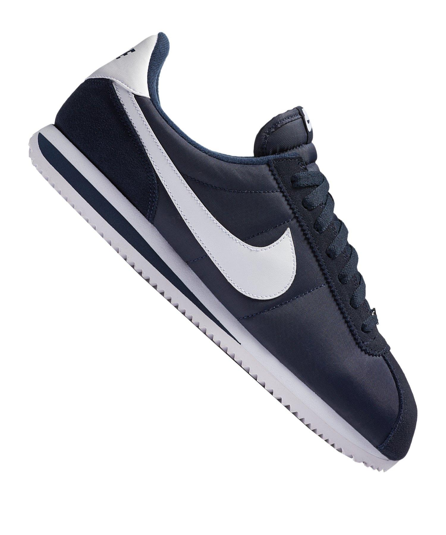 Nike Cortez Basic Nylon Sneaker Blau F411 - blau