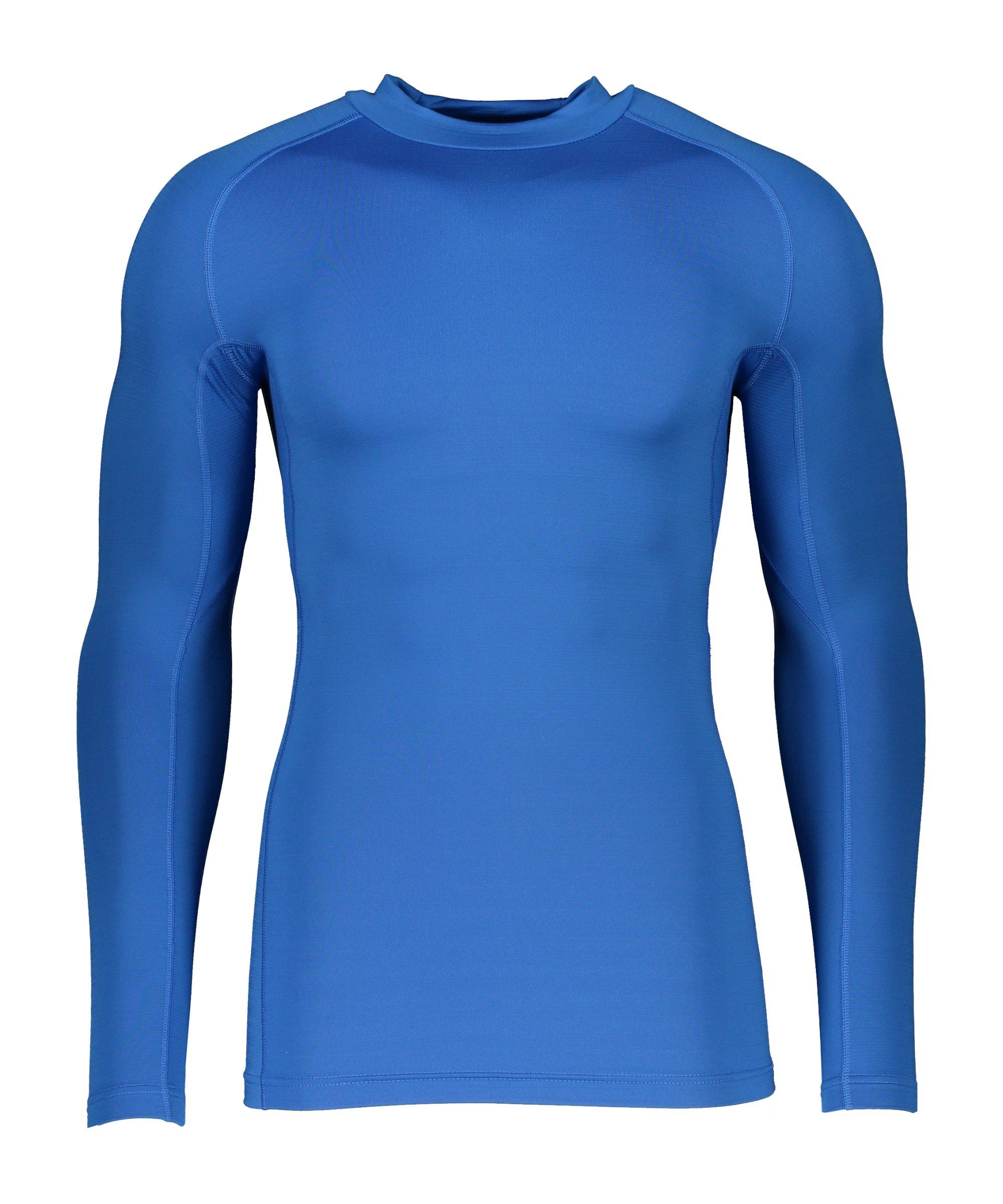 Nike NP Hyperwarm Max Comp Mock Sweatshirt F463 - blau