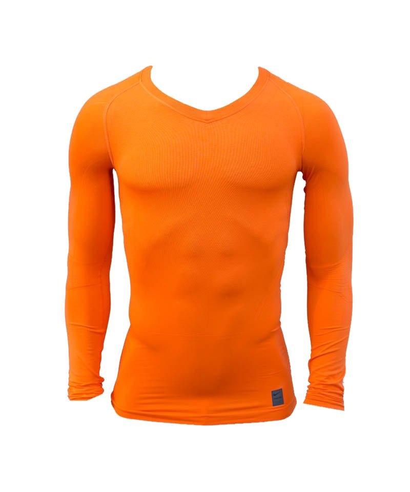 Nike Langarmshirt Pro Lightweight Seamless F815 - orange