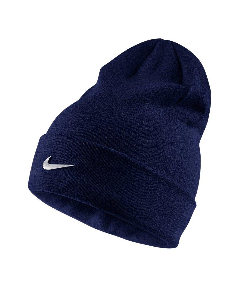 Nike Mütze Metal Swoosh Beanie Kinder Blau F541 - blau