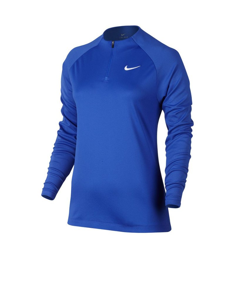 Nike Drill Top Football 1/4 Zip langarm Damen F453 - blau