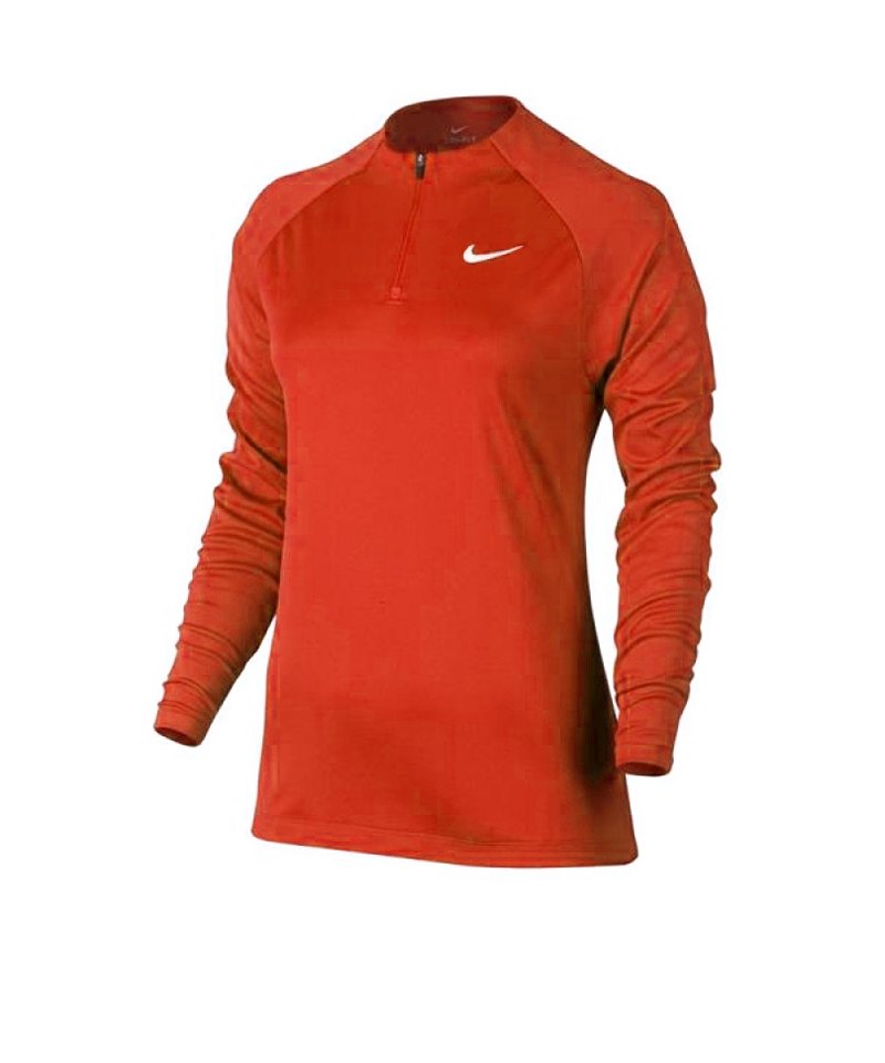 Nike Drill Top Football 1/4 Zip langarm Damen F852 - orange