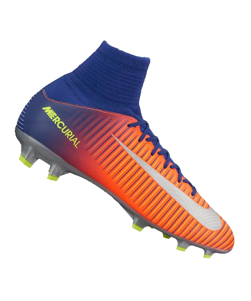 Nike FG Jr Mercurial Superfly V Kinder Blau F409 - blau