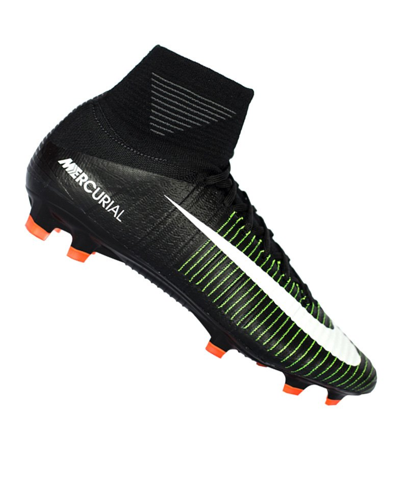 Nike FG Jr Mercurial Superfly V Kinder Schwarz F013 - schwarz