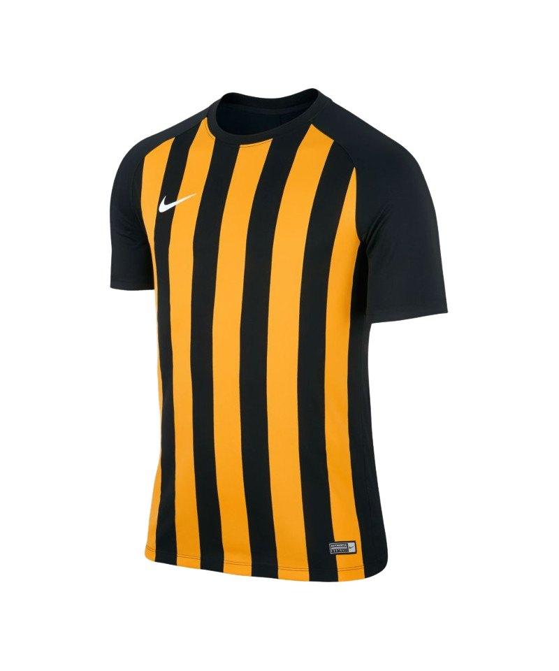 Nike kurz Trikot Striped Segment III Kinder F010 - schwarz