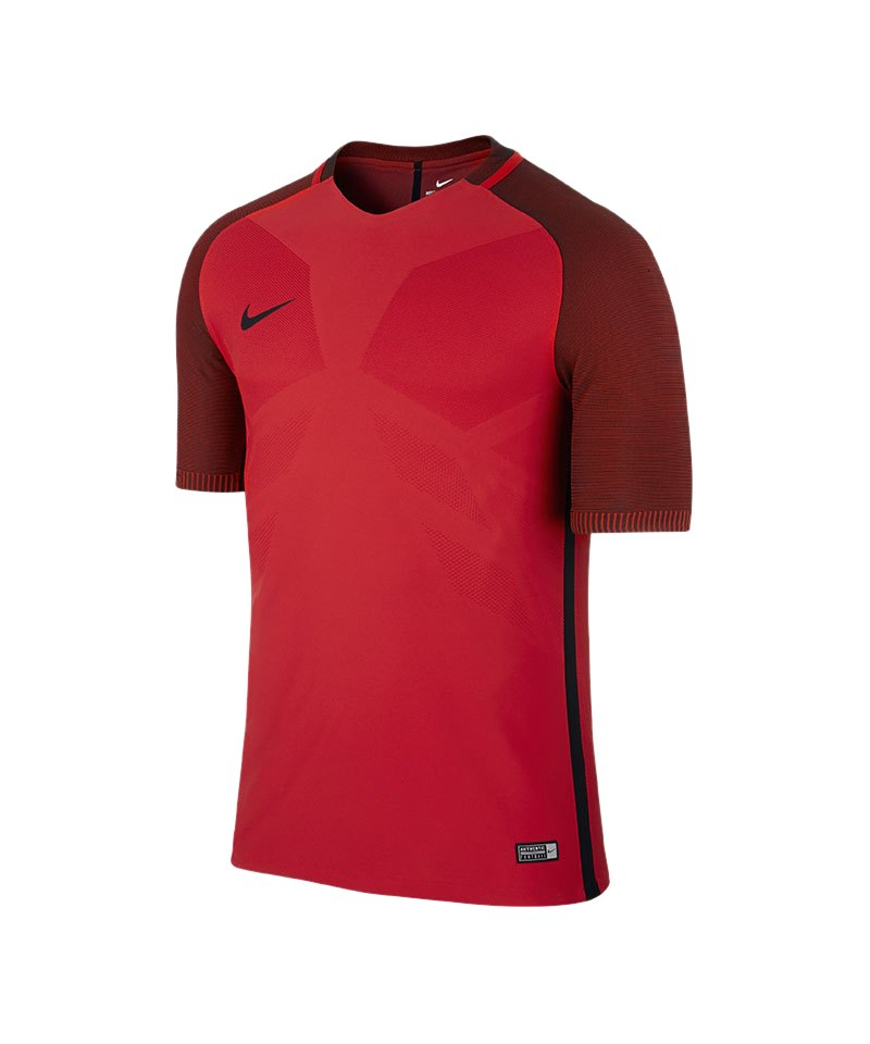 Nike kurzarm Trikot Vapor I Rot Schwarz F657 - rot