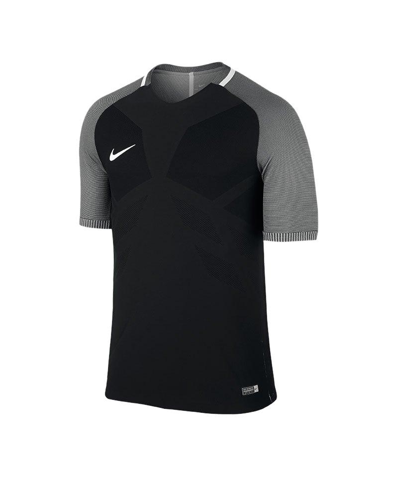 Nike kurzarm Trikot Vapor I Schwarz Grau F010 - schwarz
