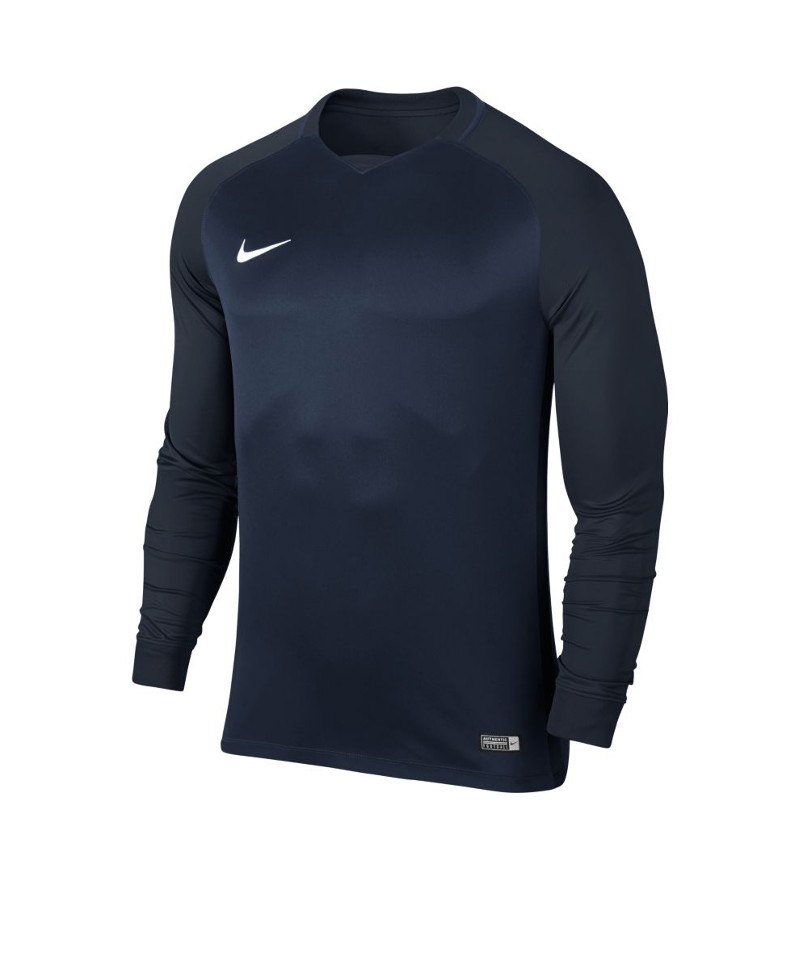 Nike langarm Trikot Trophy III Dry Team Blau F410 - blau