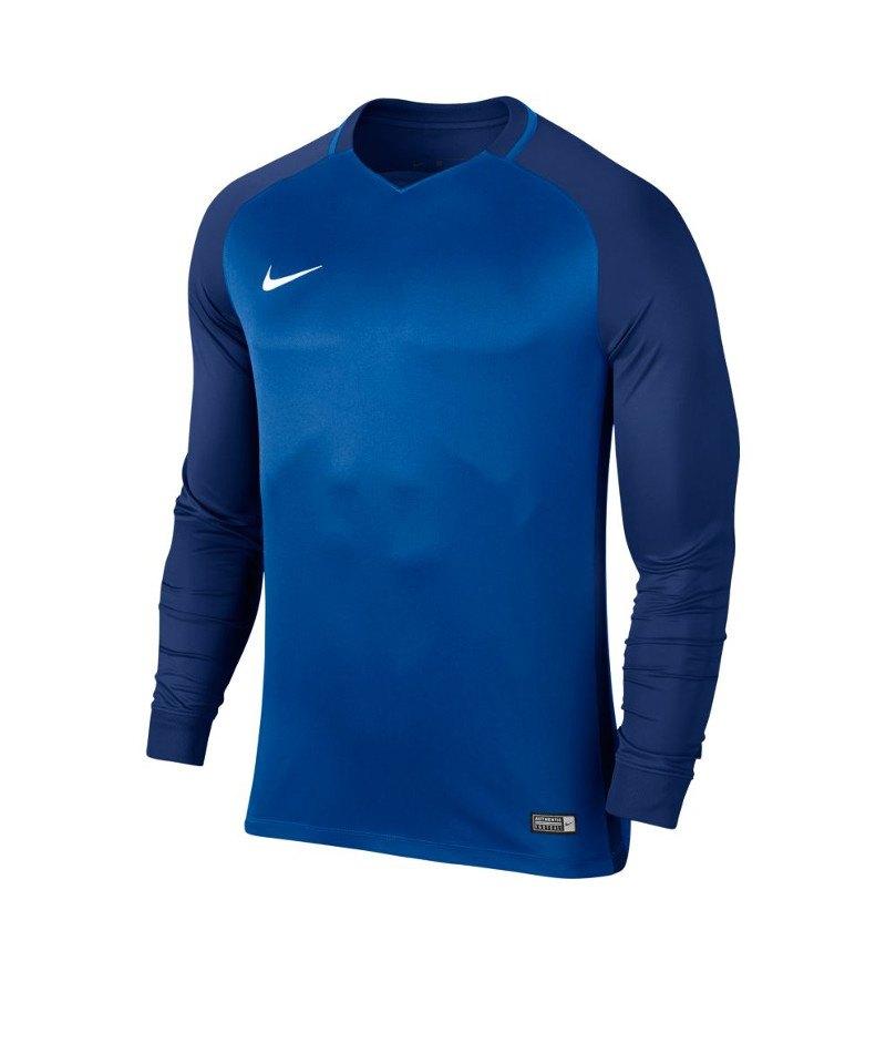 Nike langarm Trikot Trophy III Dry Team Blau F463 - blau