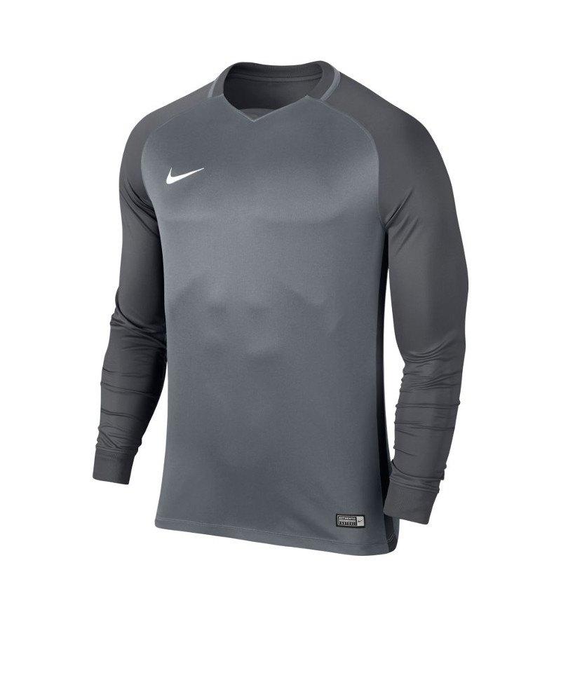 Nike langarm Trikot Trophy III Dry Team Grau F065 - grau