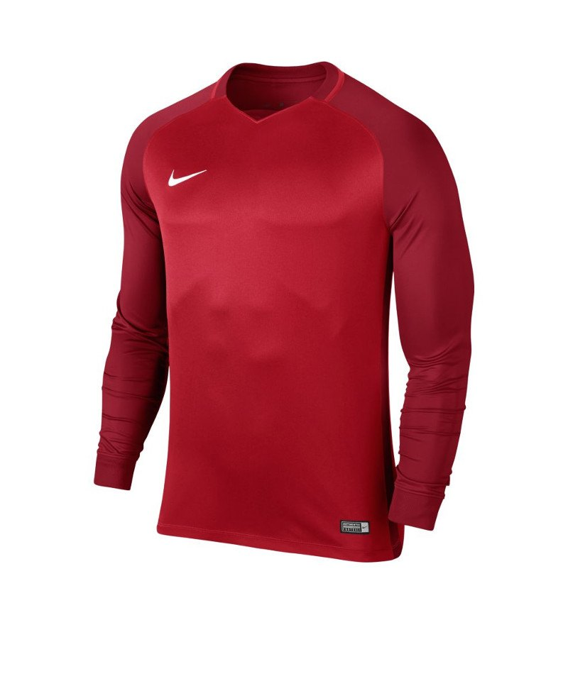 Nike langarm Trikot Trophy III Dry Team Rot F657 - rot