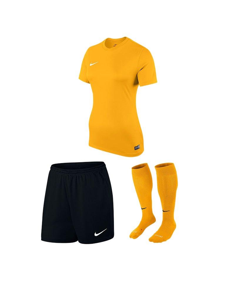 Nike Trikotset Park VI Damen Gelb Schwarz F739 - gelb