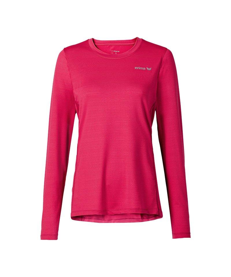 Erima Green Concept Langarmshirt Run Damen Pink - pink