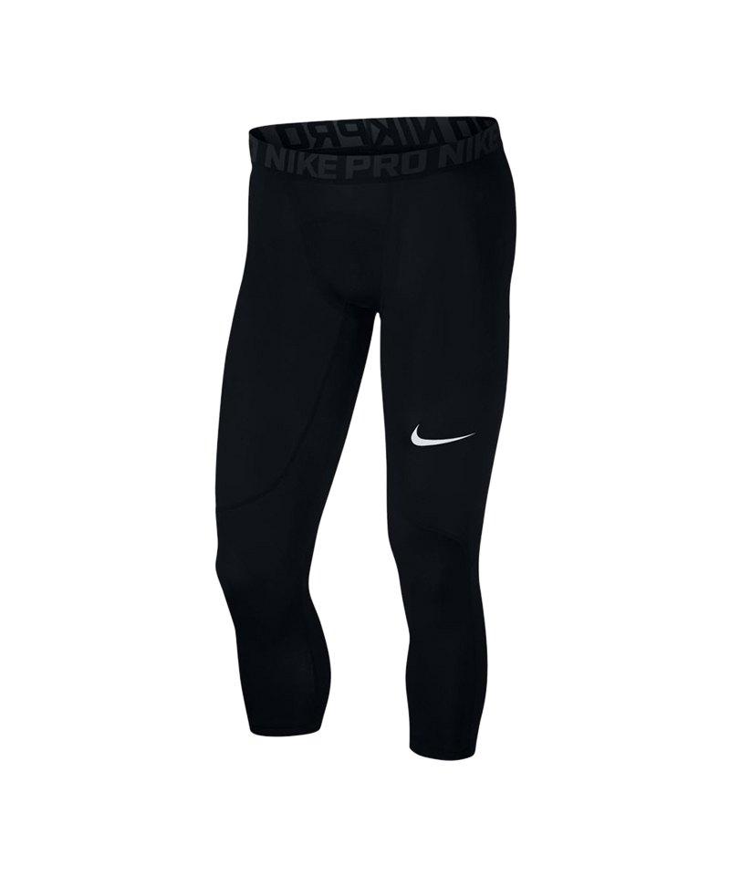 Nike Pro 3/4 Tight Schwarz F010 - schwarz