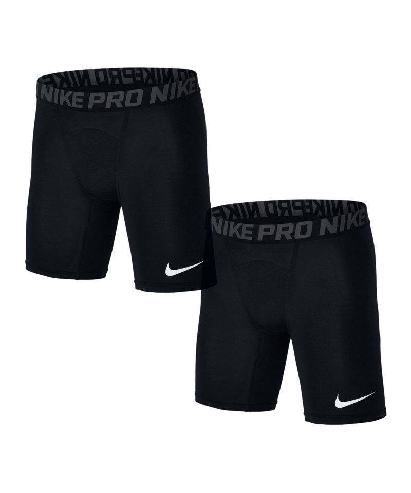 Nike Pro Short Hose 2er Set Schwarz F010 - schwarz