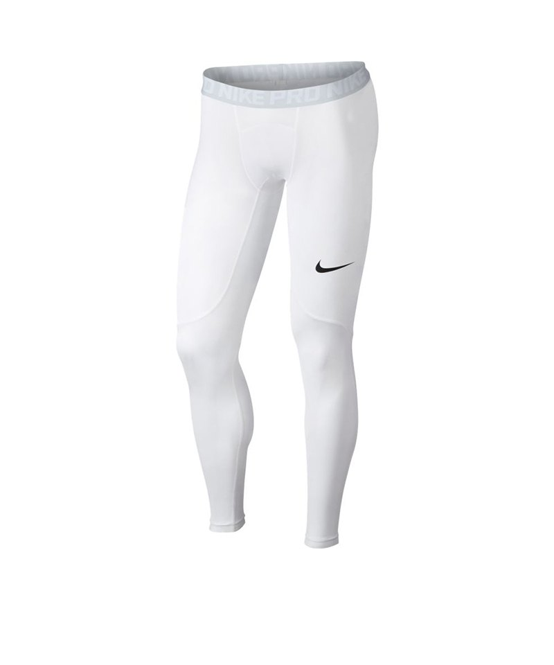 Nike Pro Tight Hose lang Weiss F100