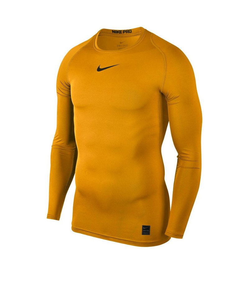 Nike Pro Compression LS Shirt Gold F739 - gold