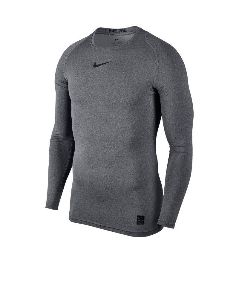 Nike Pro Compression LS Shirt Grau F091 - grau