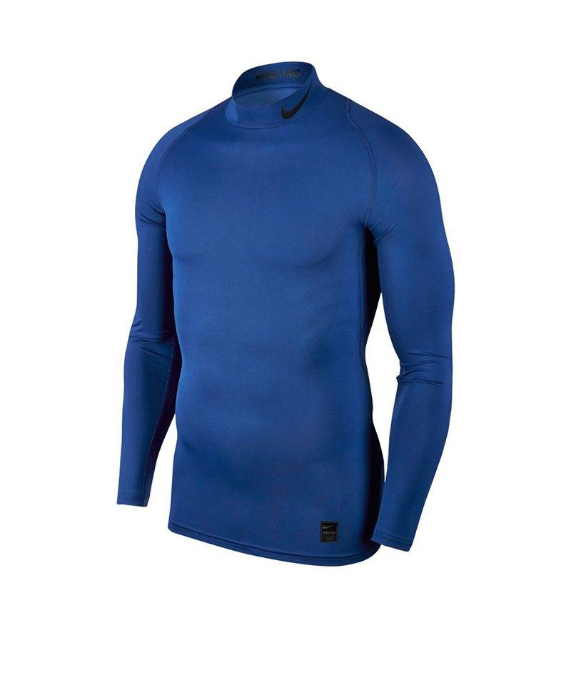 Nike Pro Compression Mock Blau F480 - blau