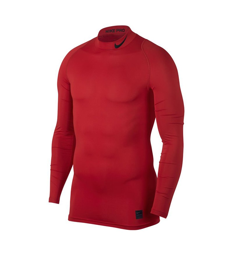 Nike Pro Compression Mock Rot F657 - rot