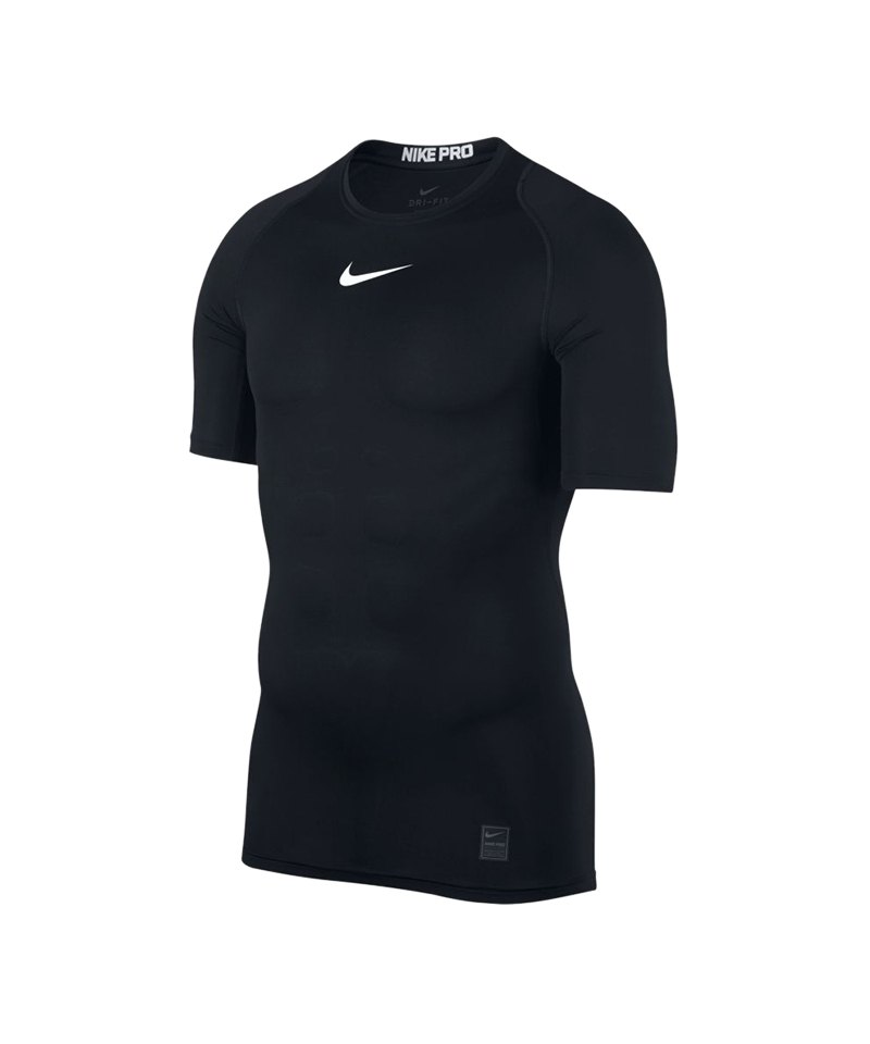 Nike Pro Compression Shortsleeve Shirt F010 - schwarz