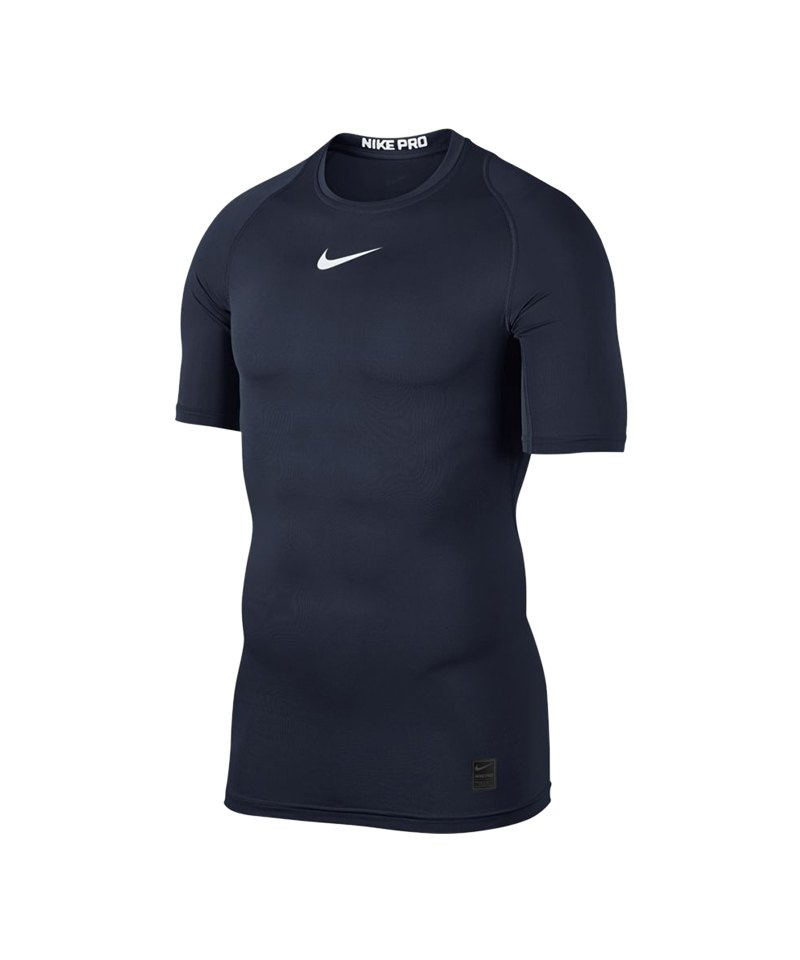 Nike Pro Compression Shortsleeve Shirt F451 - blau