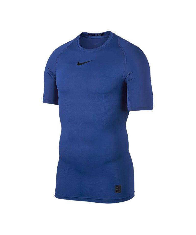 Nike Pro Compression Shortsleeve Shirt F480 - blau
