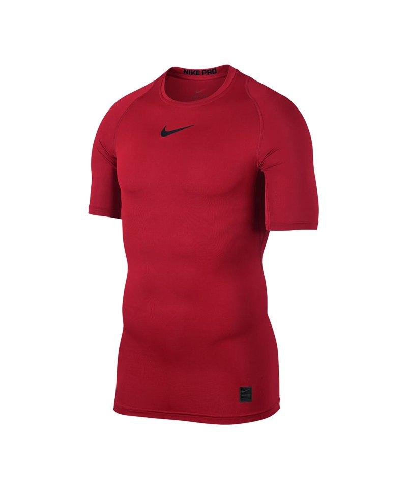 Nike Pro Compression Shortsleeve Shirt F657 - rot