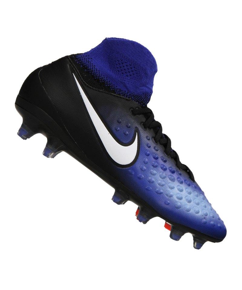 Nike FG Jr Magista Obra II Kinder Schwarz Blau F015 - schwarz