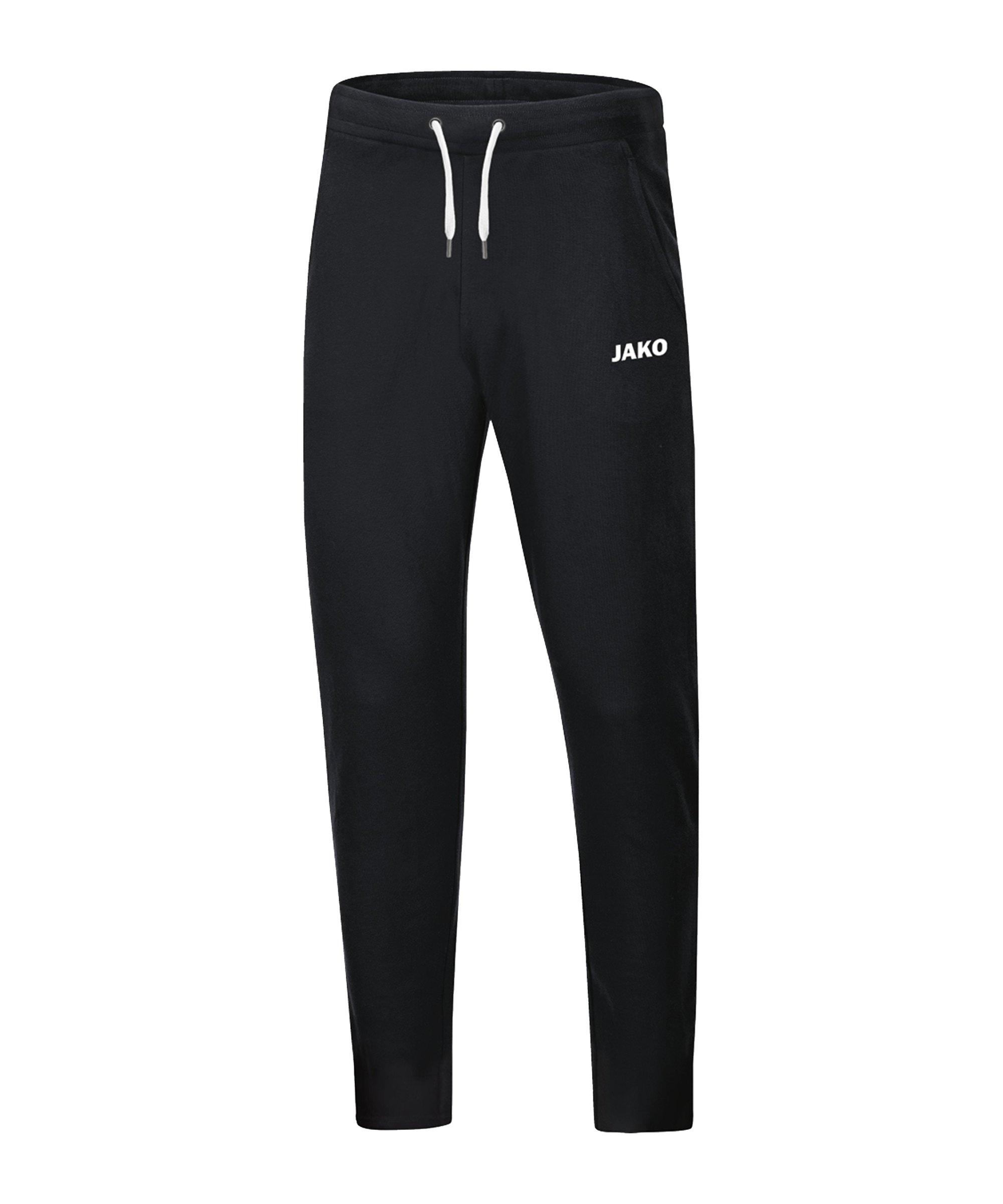 JAKO Base Jogginghose Schwarz F08 - schwarz