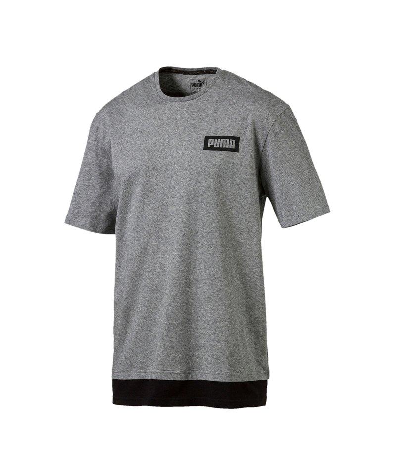PUMA Rebel Tee T-Shirt Grau F03 - grau