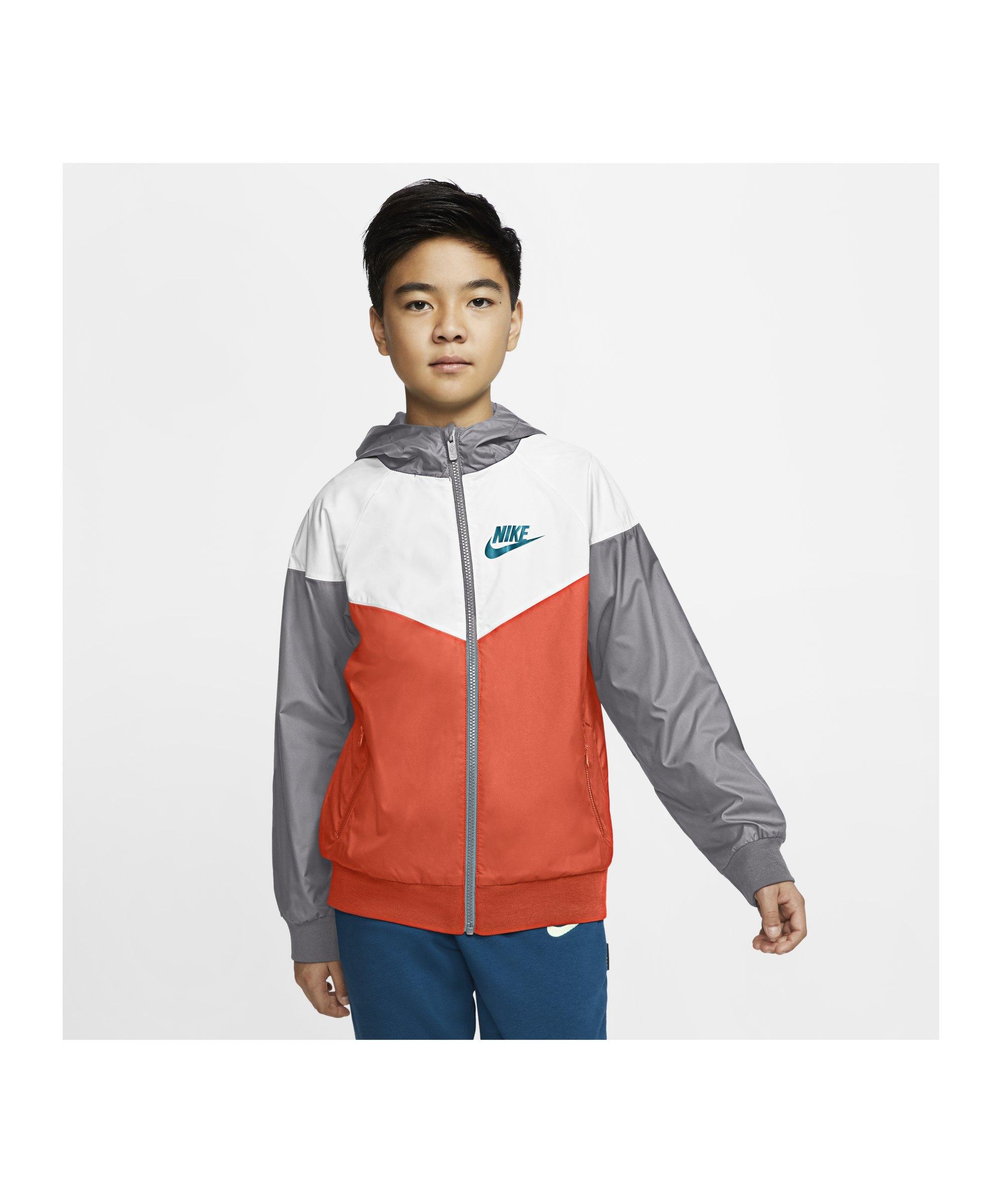 Nike Windrunner Jacke HD Kids Orange F842 - orange