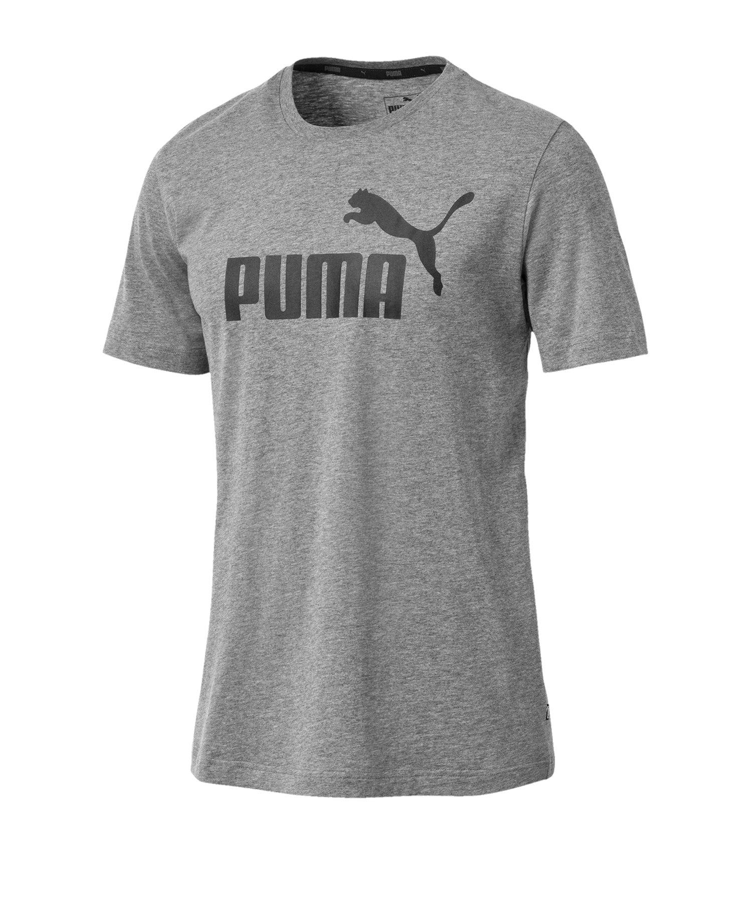 PUMA Essential Logo Tee T-Shirt Grau F03 - grau