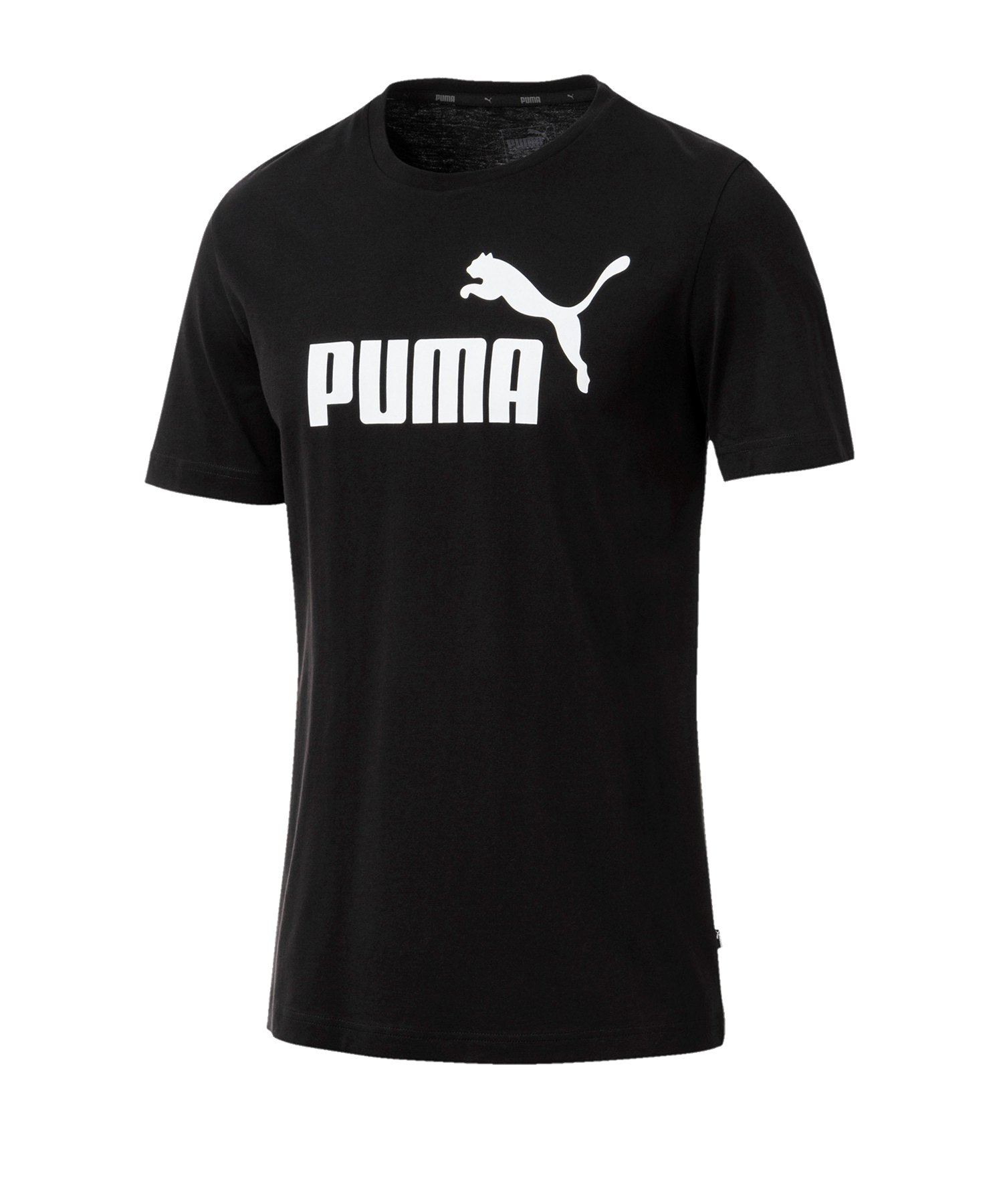 PUMA Essential Logo Tee T-Shirt Schwarz F01 - schwarz