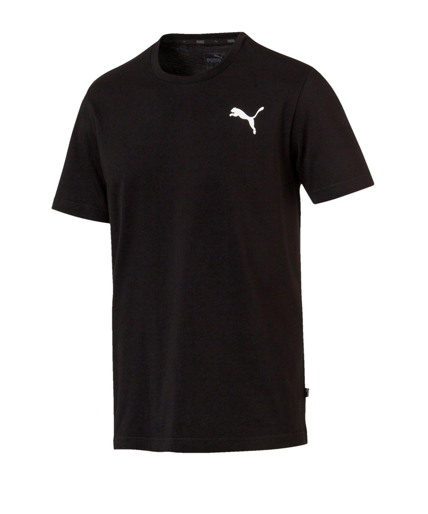 PUMA Essential Small Logo T-Shirt Schwarz F21 - schwarz